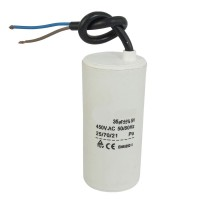 Motor run capacitor 6 µF 30x60mm 450Vac 5%  85°C