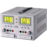 Labovoeding met 2 LCD displays 2x(0-30V), 2x(0-3A), 5V-3A
